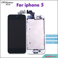Mobymax AAA Pantalla LCD Full Assembly Ecran For IPhone 5 Touch Screen Digitizer Display Replacement Home