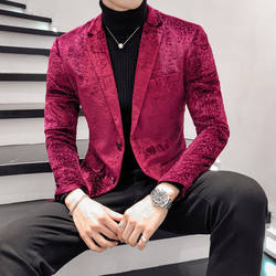 Осень для мужчин Блейзер длинный рукав красная роза пальто костюм куртка Азии Размеры s M L XL XXL XXXL s Костюмы Пиджаки для ж