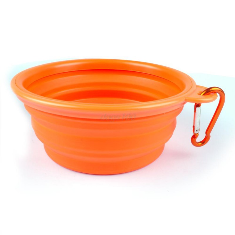 Dog Bowl, Dog Cat Pet Travel Bowl Silikone Foldbare Foder Vand Skål - Pet produkter - Foto 6