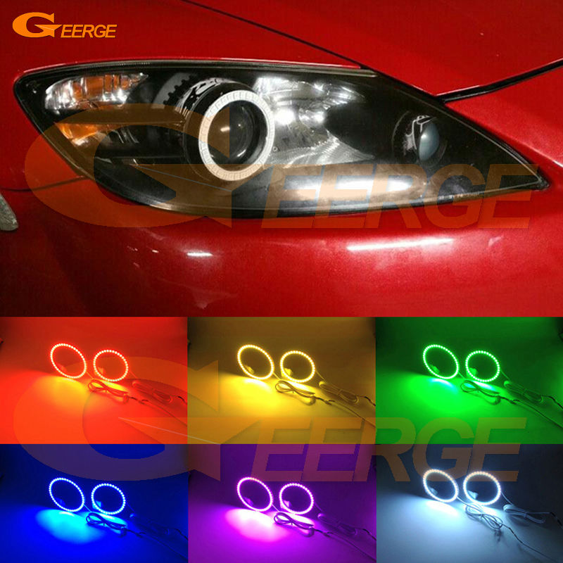 For Mazda RX8 Rx-8 2004 2005 2006 2007 2008 Excellent Multi-Color Ultra bright RGB Angel Eyes kit Halo Rings for acura tsx cl9 2004 2005 2006 2007 2008 excellent multi color ultra bright rgb led angel eyes kit halo rings
