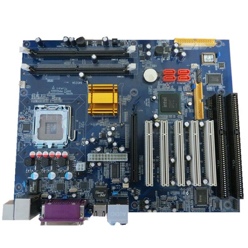 5 pièces 945 industrielle ddr2 carte mère socket 775 carte mère avec 2 * ISA et 5 * PCI Slots prennent en charge le chipset Intel
