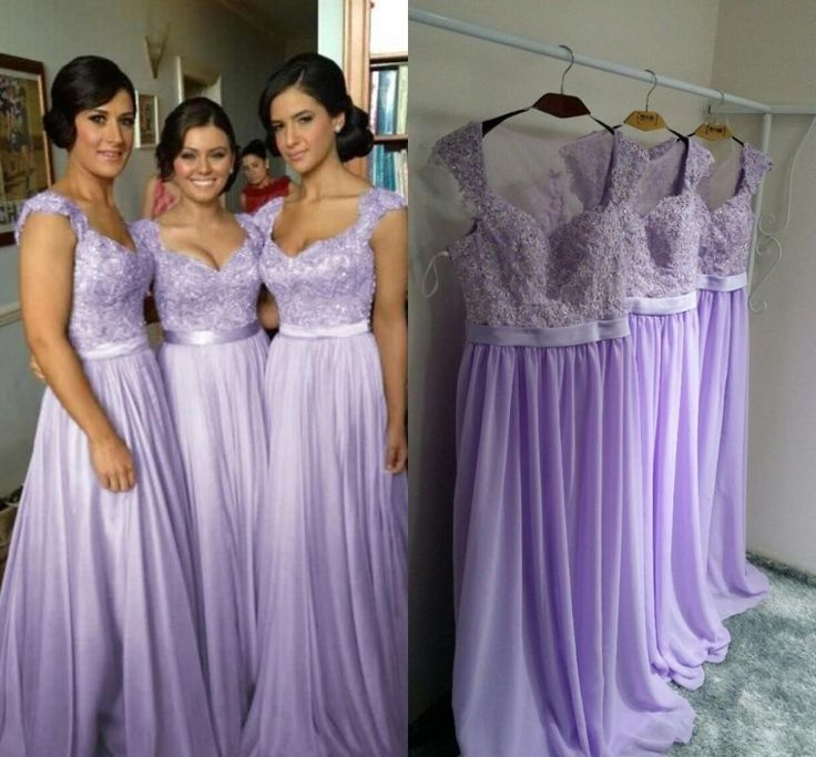Popular Purple Long Lace Bridesmaid Dresses-Buy Cheap Purple Long ...