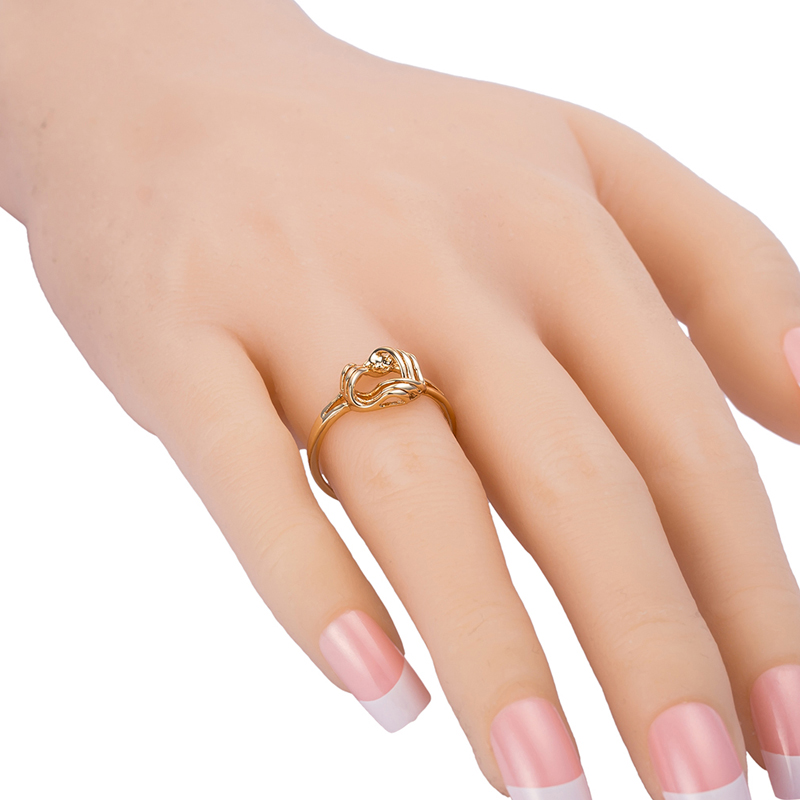 18K Nice Rose Style All Pure Gold Plated Ring Gentle And Quiet ...
