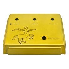 лучшая цена 1:1 Diecast Aluminum For klon centaur overdrive  pedal Project Enclosed Case Gold