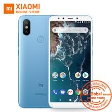 Küresel Sürüm Xiao mi mi A2 5.99 INÇ 18:9 Tam ekran 4 GB 64 GB Snapdragon 660 AIE 20MP + 12MP Çift Kamera Android Bir Smartphone