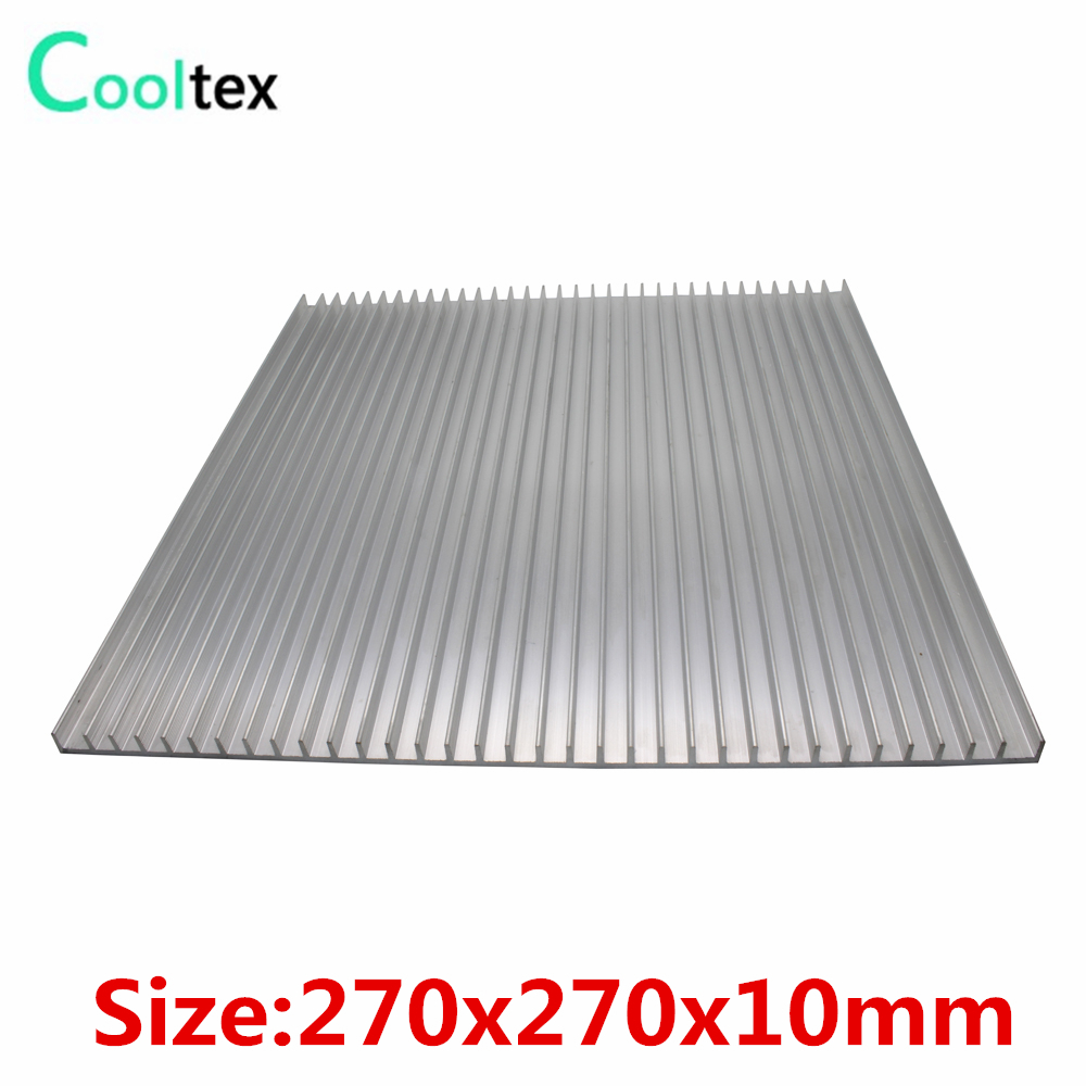High power 270x270x10mm Aluminum HeatSink Heat Sink radiator for electronic Chip LED COOLER cooling Recommended 120x69x27mm aluminum radiator high power heatsink for electronic chip cpu gpu vga ram led ic heat sink cooler cooling
