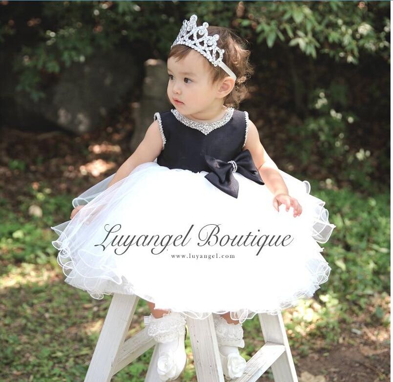 aliexpresscom buy super fluffy baby girl 1 year birthday dresses toddler pearl tutu flower girl dresses for weddings whiteblack baptism dresses from
