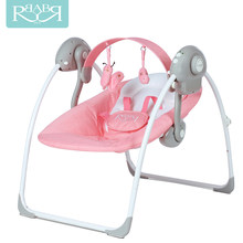 Babyruler Electric Baby Swing Chair Bouncer Music Rocking For Baby Bebek Salincak Newborn Baby Sleeping Basket Sallanan Sandalye(China)