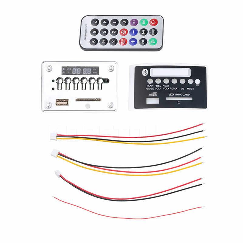 Mp3 wma decodificador placa mp3 player áudio do carro usb tf fm módulo de rádio sem fio bluetooth 5 v 12 v controle remoto para acessórios do carro