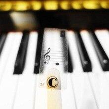 Piano Keyboard Electronic Keyboard Stickers Music Decal Label Note Biginners Kid