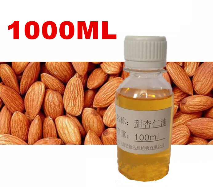 1000ml 1L 1KG Natural Pure Sweet Almond Oil Massage Base Oils Beauty Salon Equipment Skin Care Product 1kg sensitive skin chamomile mask gel beauty salon 1000ml ultra calm cooling soothes recuperate repair