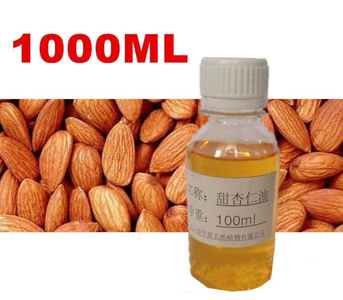 ФОТО 1000ml 1L 1KG Natural Pure Sweet Almond Oil Massage Base Oils Beauty Salon Equipment Skin Care Product