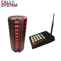 Сигнальное устройство для ресторана Системы 999 канал Беспроводной вызывающая очереди Системы гостевой столик звонок пейджеры с подставкой