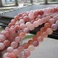 """Envío Libre 16 """"Full strand 6mm 8mm 10mm Encanto de Los Granos de Piedra Natural de Color Rosa para fabricación de la joyería"""