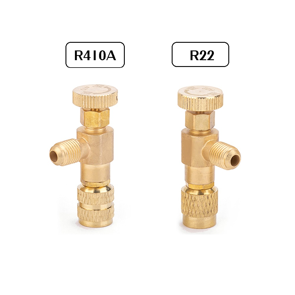 R22 R40A Refrigerant Charging Valve Safety Adapter 1/4