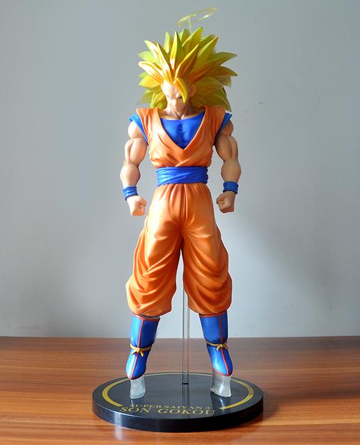 30 cm planowania przestrzennego obszarów morskich Dragon Ball Z Son Goku rysunek Super Saiyan boga niebieskie włosy Goku dragon ball kolekcjonerska Model zabawka lalka