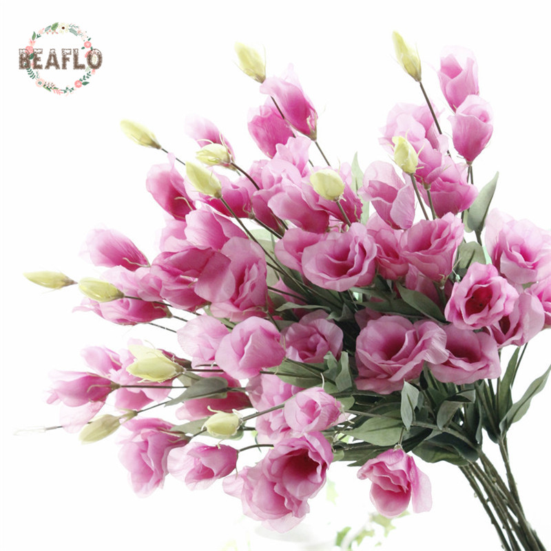 1PC Artificial Flower 7 Heads Fake Eustoma Christmas Wedding Party Home Decorative