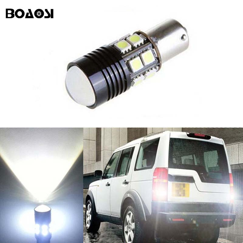 BOAOSI 1x Error Free LED Bulbs For Backup Reverse Light R5 1156 p21w ba15s For Land Rover Discovery 3 Range Rover Freelander 100% original launch creader 519 odb obd2 scanner for obd2 can eobd jobd cars cr519 diagnostic tool free gift brake fluid tester