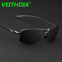 VEITHDIA Brand Design Men Aluminum Magnesium Polarized Sunglasses Driving Sun Glasses Goggles Glasses oculos Accessories 2458