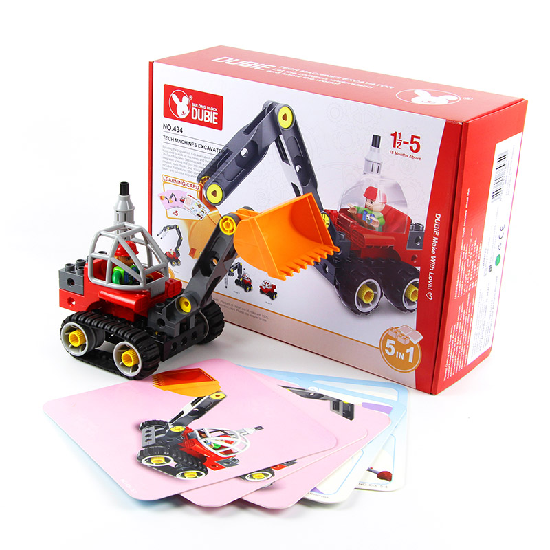 ФОТО 42 PCS Eductional 5 in 1 Building Blocks Sets Engineering Car children Kids Toys Christmas Gifts compatible with legoe