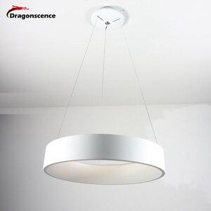 Image 4 - Круглый алюминиевый современный светодиодный подвесной светильник для гостиной, спальни, столовой, офисный подвесной светильник, Lamparas De Techo Colgante