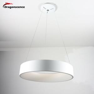 Image 4 - Okrągły aluminiowy nowoczesny wisiorek LED światło do salonu sypialnia jadalnia biuro lampa wisząca Lamparas De Techo Colgante Moderna