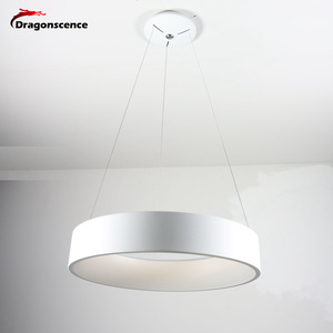 Image 4 - Round Aluminum Modern LED Pendant Light For Living Room Bedroom Dining Office Pendant Lamp Lamparas De Techo Colgante Moderna