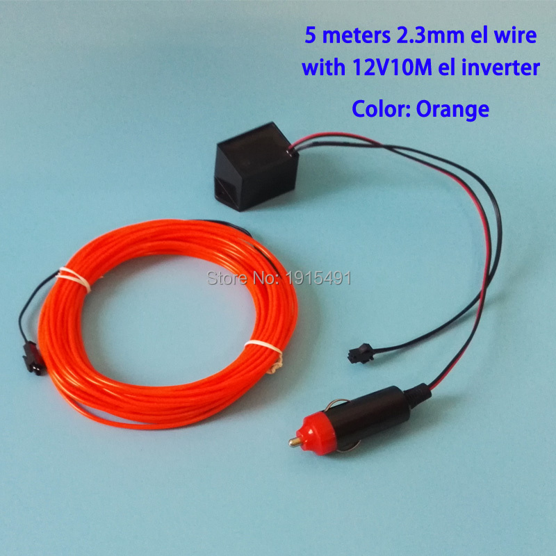 10 Color 2.3mm 5M Trendy Festival Decor 12V Holiday Lighting Accessory Flexible Led Strip Neon Light EL Wire Rope Tube