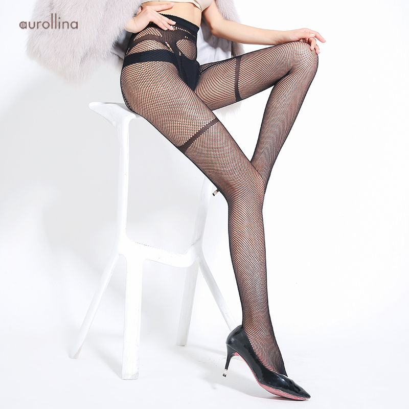 Sexy Jacquard Crotch Fishnet Leg Pantyhose Tights Garter Belt Mimic Nylon Stretch Fabric Stocking Legs Alluring Tights Lingeries in Tights from Underwear Sleepwears