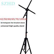 Universal 42cm 50cm 60cm 65cm 70cm 100cm 3d holograma fan adveretising pantalla led ventilador soporte