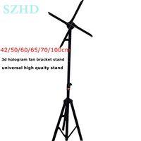 Universal 42cm 50cm 60cm 65cm 70cm 100cm 3d hologram fan adveretising display led fan bracket stand