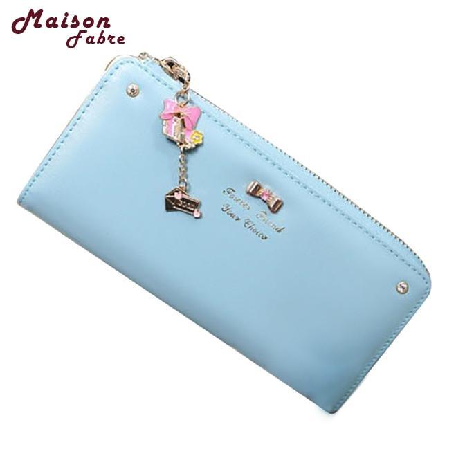 Maison Fabre Jasmine Women Clutch Long Bow Pendant Purse Wallet Card Holder Handbag Bag 0119 drop shipping