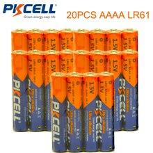 20 PCS PKCELL 1.5 V סוללה AAAA LR61 AM6 אלקליין סוללה E96 יבש & סוללה ראשית סוללות עבור stylus עט שלט רחוק וכו