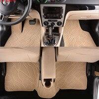 Автомобиль считаем Авто Пол коврик для ног citroen c5 c4 Пикассо c elysee DS4 5 6 аксессуары Водонепроницаемый ковров линии пола
