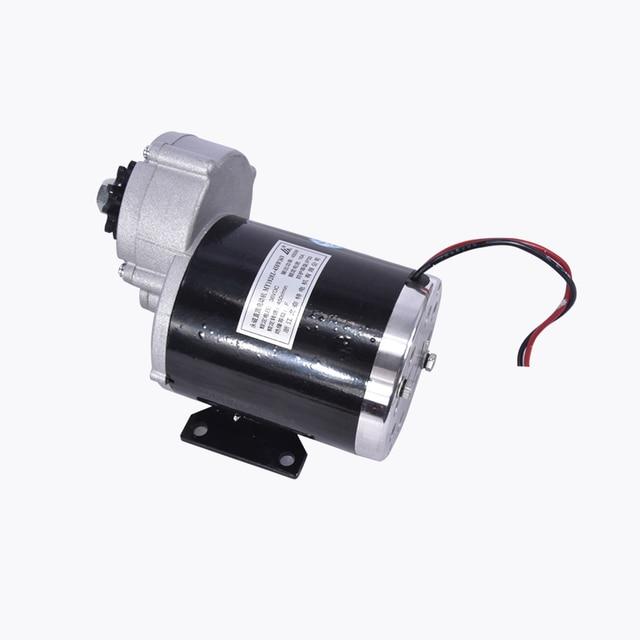 Мотор-редуктор 450 Вт 24В, 36В, 48В, мотор-щетка, Электрический трехколесный велосипед, двигатель с щеткой постоянного тока, электродвигатель для велосипеда, MY1020Z 2700 об/мин