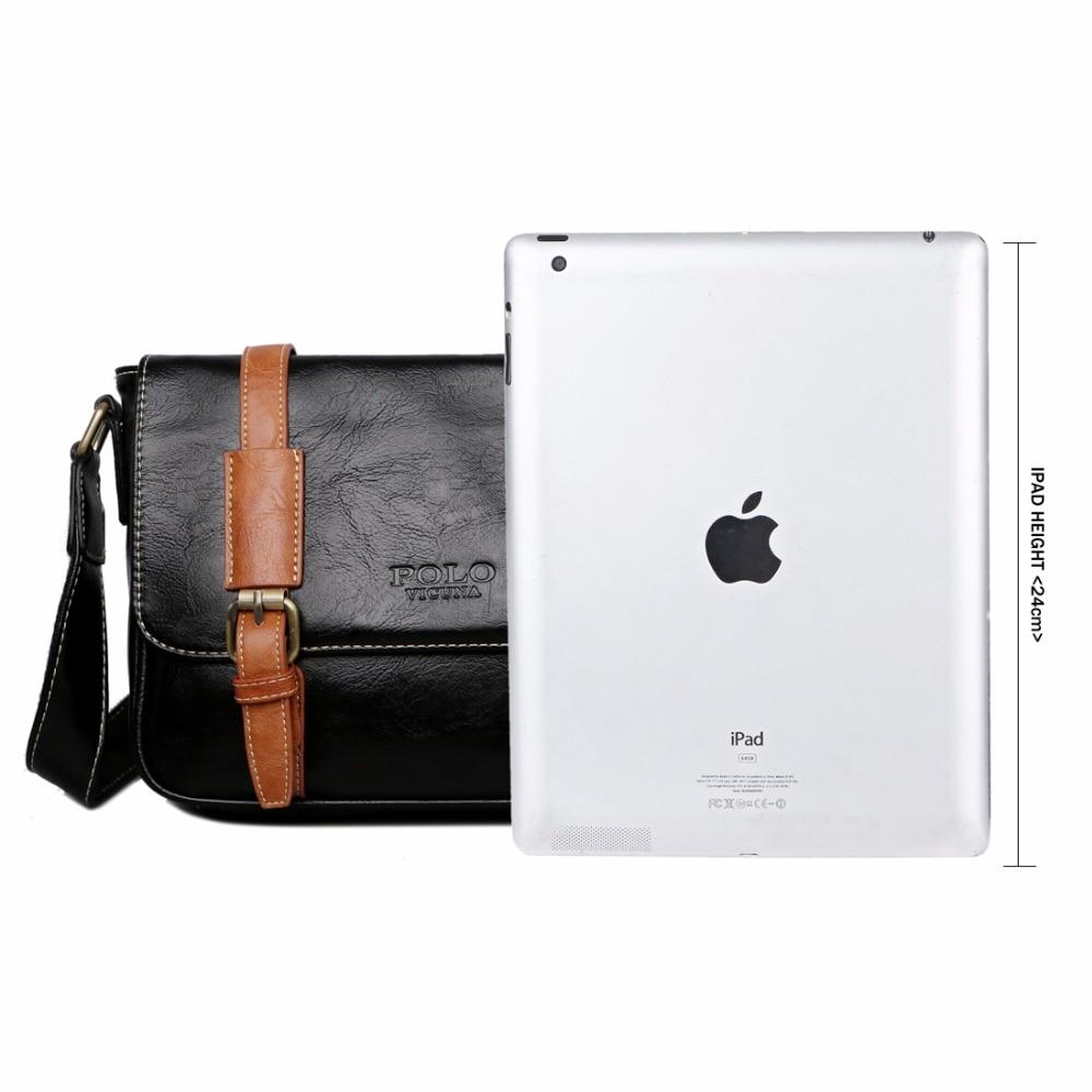 f8f9e4e16b VICUNA POLO Man Vintage Leather Messenger Bag Famous Brand Business Man Bag  Men s Shoulder Bags High Quality Men Handbags bolsos - aliexpress.com -  imall. ...