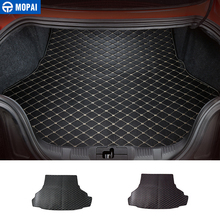 MOPAI Best Selling Leather Car Interior Cargo Liner Trunk Cargo Liner Floor Mat For Ford Mustang 15 Up Car Styling