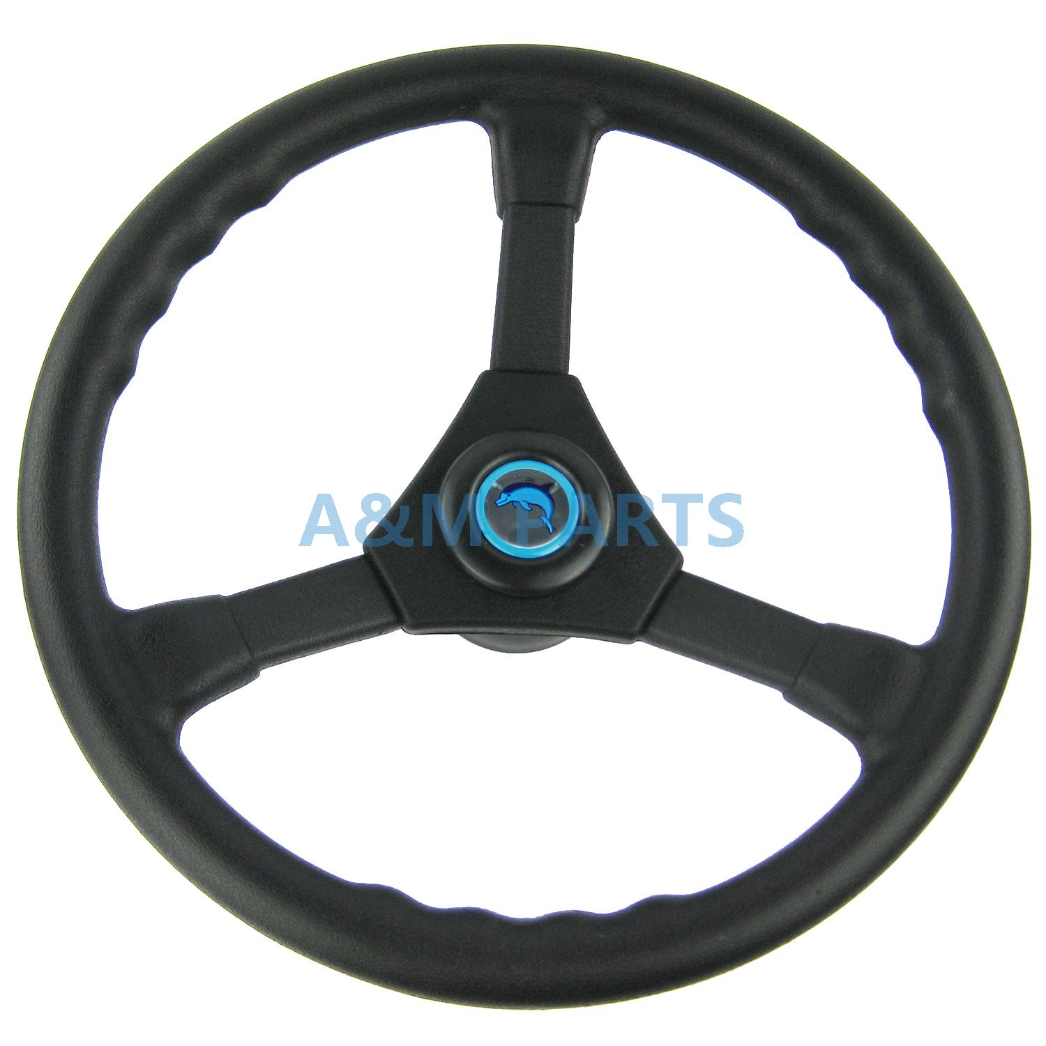 17FT Boat Rotary Steering System With Marine Outboard Steering Cable & Wheel Boat Controls & Steering Auto Parts and Vehicles