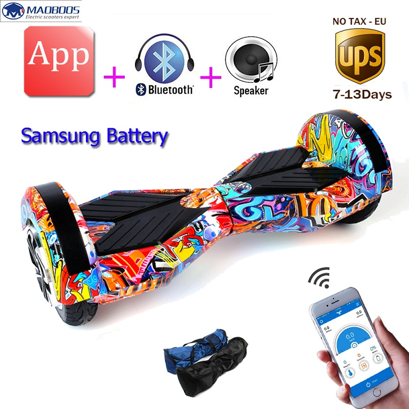 Hoverboard APP Control 8 Inch Two Wheel Self balance Scooters Hoverboard Electric Skateboard Electric Unicycle Scooter 2 wheel electric balance scooter adult personal balance vehicle bike gyroscope lithuim battery
