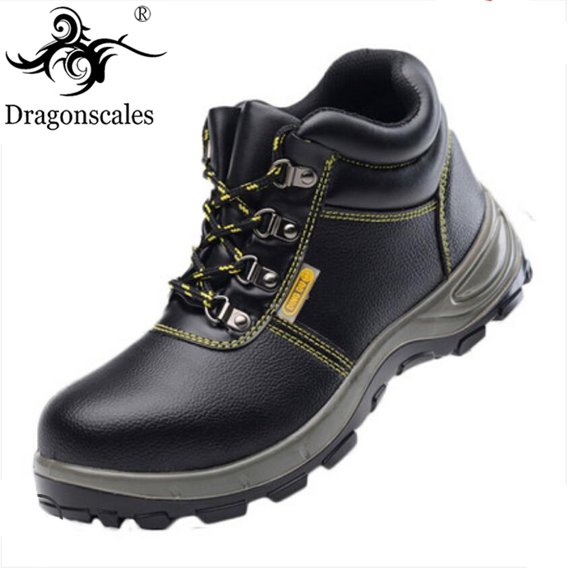 2019 Men's Steel Toe Cap Work Boots Men's Steel Head Puncture Safety Shoes Non-slip Anti-smashing Casual Protective Shoes