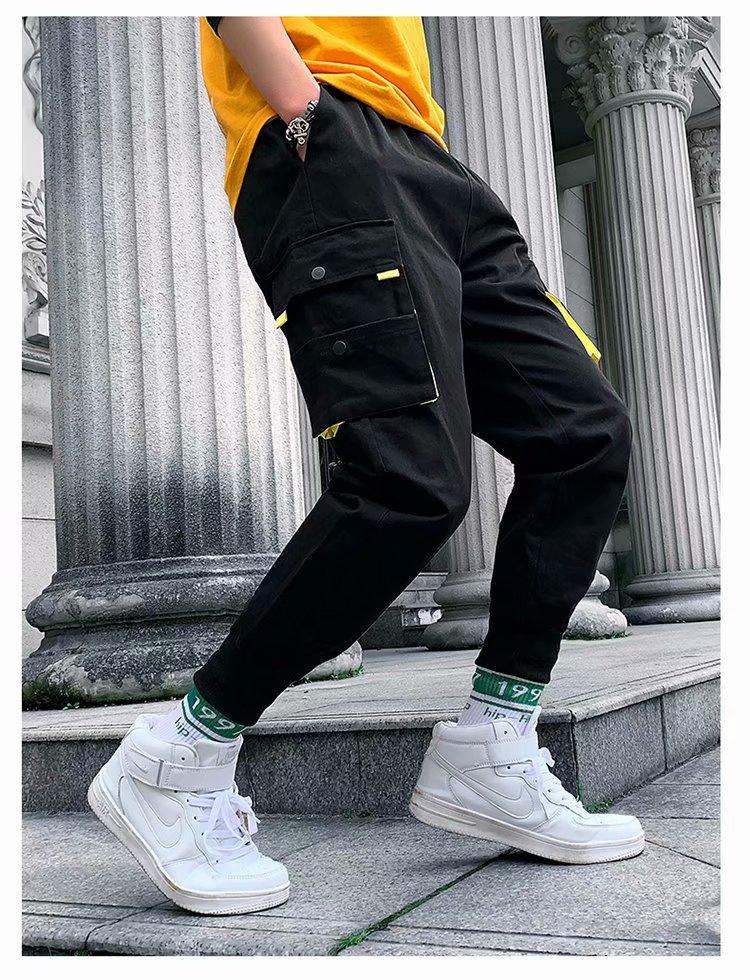 Men 39 s Cool Pants Pocket Loose Men Cool HipHop Multi Pocket New Fashion Joggers Pants Trousers Men Streetwear in Cargo Pants from Men 39 s Clothing