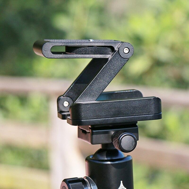 Ulanzi Z Flex Tilt trípode cabeza de aleación de aluminio plegable Placa de liberación rápida soporte nivel de espíritu para cámara de teléfonos