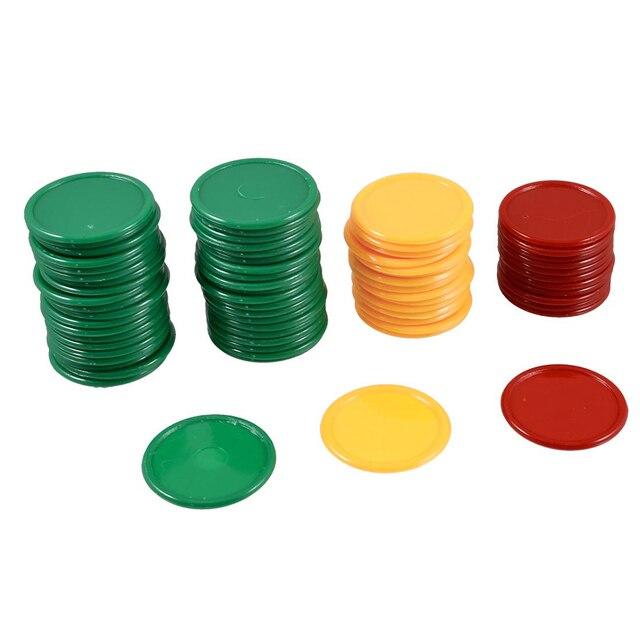 ELOS-Fichas de Poker Vermelho Amarelo Verde Forma Redonda Mini Fichas de Poker Sorte Jogo Adereços 69 Pcs