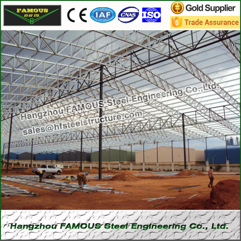 Prefab Metal Construction For Steel Structure Workshop And Plants