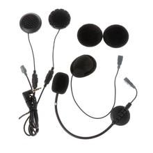 Microfone e fone de ouvido para motocicleta, interfone para capacete ejeas e6