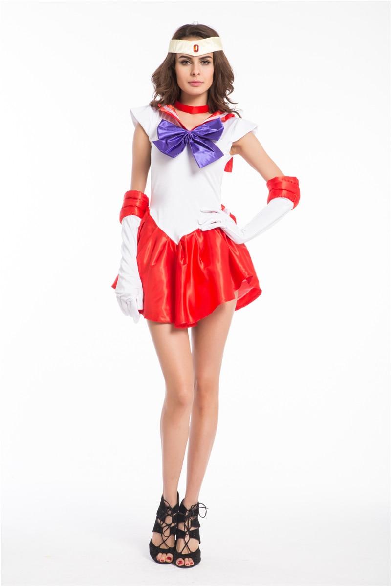 pulsuz çatdırılma Sailor Moon Mars Mercury Jupiter Venera Kostyum - Karnaval kostyumlar - Fotoqrafiya 2