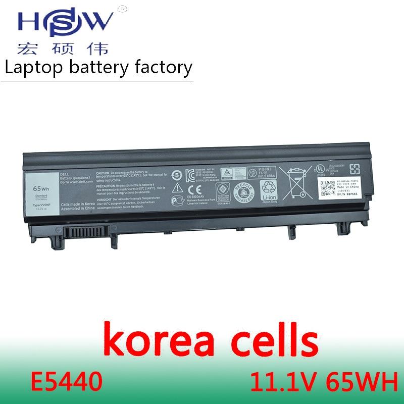 HSW battery 11.1V 65WH For Dell 312-1351 451-BBID 451-BBIE 451-BBIF 3K7J7 970V9 9TJ2J N5YH9 TU211 VV0NF bateria akku 65wh aptop batteries genuine for dell latitude e5440 e5540 65wh 6 cell battery type vv0nf 451 bbie