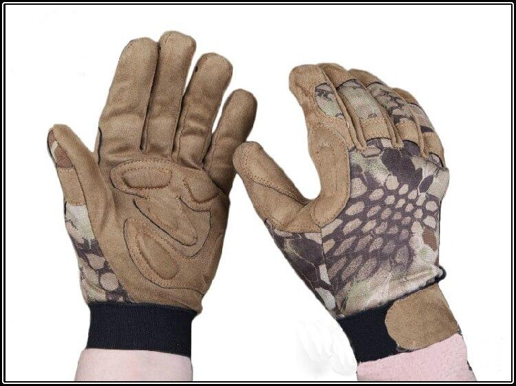 AOR2 Tactical Lightweight Kryptek Camo gloves full finger Mandrake Police gloves Highlander Tyhone hunting gloves