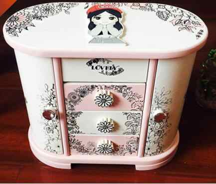 Ym 720 Baru Korea Putri Room Kayu Praktis Perhiasan Kotak Dekorasi