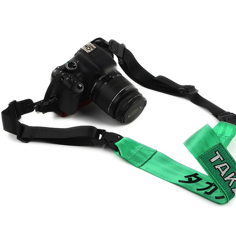 лучшая цена Adjustable Universal JDM Racing Style Micro Camera DSLR Neck Shoulder Belt Strap TAKAT For 5D4 6100 6500 D810 D610 7K A7